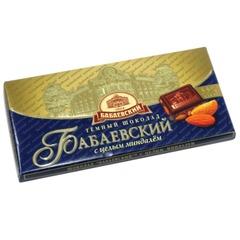 Шоколад БАБАЕВСКИЙ темный с миндалем, 100 г