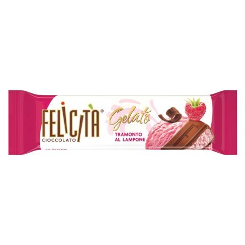 """Шоколад FELICITA (Феличита) """"Gelato"""", молочный со вкусом малинового мороженого, 45 г"""