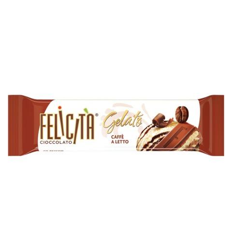 Шоколад FELICITA (Феличита) «Gelato», молочный со вкусом сливочно-кофейного мороженого, 48 г