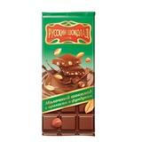 Шоколад РУССКИЙ ШОКОЛАД, молочный с арахисом и фундуком, 85 г