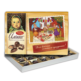 Конфеты шоколадные КРАСНЫЙ ОКТЯБРЬ «Аленка», из молочного шоколада, ассорти, 185 г, картонная коробка