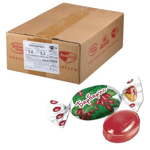 Конфеты-карамель РОТ ФРОНТ «Барбарис», весовые, 5 кг, гофрокороб
