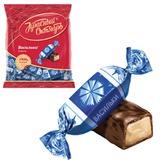 Конфеты шоколадные КРАСНЫЙ ОКТЯБРЬ «Васильки», помадка крем-брюле с орехом, 250 г, пакет