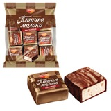 Конфеты шоколадные РОТ ФРОНТ «Птичье молоко», суфле, сливочно-ванильные, 225 г, пакет