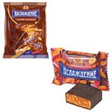 Конфеты шоколадные БАБАЕВСКИЙ «Наслаждение», мягкая карамель с орехами, 250 г, пакет