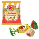 Конфеты-карамель РОТ ФРОНТ «Клубника со сливками», 250 г, пакет