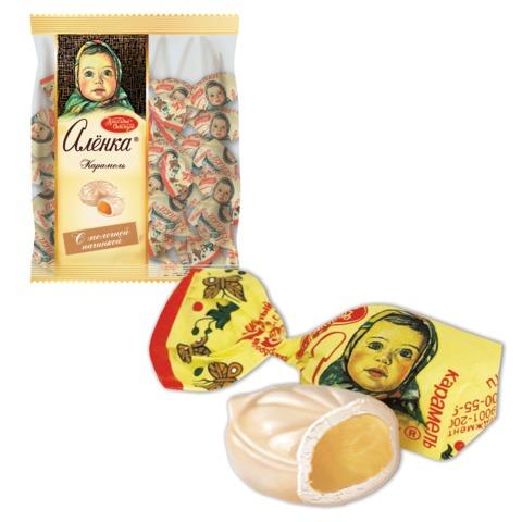 Конфеты-карамель КРАСНЫЙ ОКТЯБРЬ «Аленка», 250 г, пакет