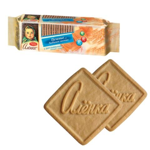 Печенье КРАСНЫЙ ОКТЯБРЬ «Аленка», любимое молоко с витаминами, 190 г