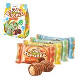 Конфеты шоколадные РОТ ФРОНТ «Коровка», сливочный крем в вафле, 250 г, пакет