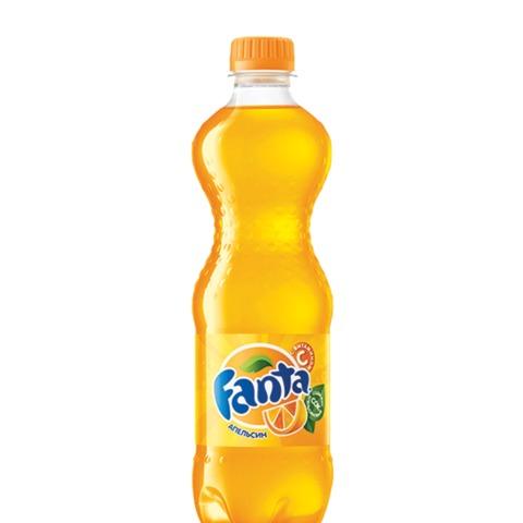 Напиток газированный FANTA (Фанта), 0,5 л, пластиковая бутылка
