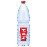 Вода негазированная минеральная VITTEL (Виттель), 1,5 л, пластиковая бутылка, Франция