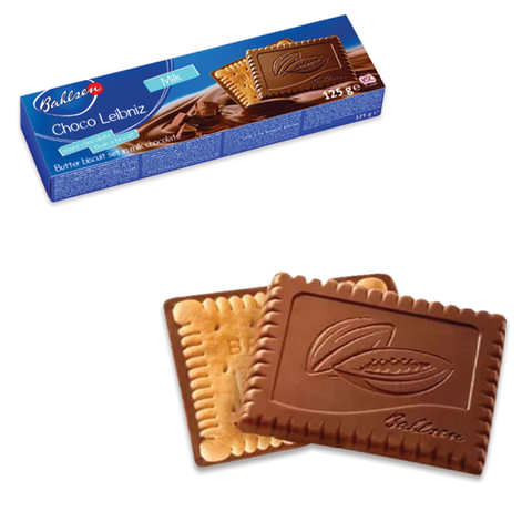 Печенье BAHLSEN (Бальзен) «Choco Leibniz Milk», сливочное в молочном шоколаде, 125 г, Германия