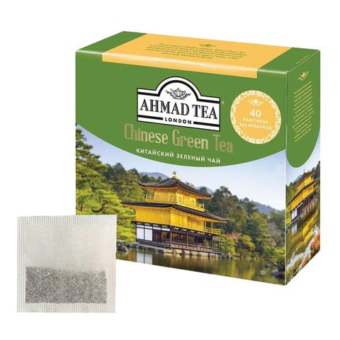 "Чай AHMAD (Ахмад) ""Chinese Green Tea"", зеленый, 40 пакетиков без ярлычков по 1,8 г"