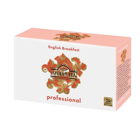 """Чай AHMAD (Ахмад) """"English Breakfast"""" Professional, черный, 20 пакетиков для чайника по 5 г"""