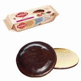 Печенье ЯШКИНО «Клубника», сдобное, с бисквитом, джемом и шоколадной глазурью, 137 г