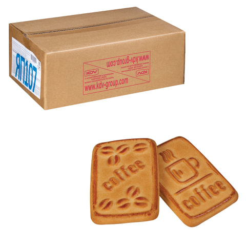 Печенье ЯШКИНО «К кофе», сахарное, со вкусом пломбира, весовое, гофрокороб, 4 кг