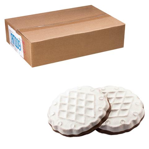 """Печенье ЯШКИНО """"Кругляш"""", сахарное, в белой и шоколадной глазури, весовое, гофрокороб, 3,5 кг"""
