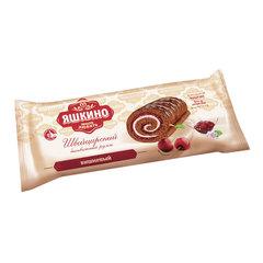 Рулет бисквитный ЯШКИНО «Вишневый», шоколадный с кремом и джемом, 200 г