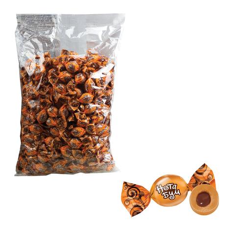 Конфеты-ирис ЯШКИНО «Нота Бум», с орехово-шоколадной начинкой, жевательные, пакет, 1 кг