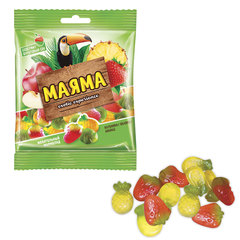 Мармелад жевательный МАЯМА «Фруктовый микс», клубника, яблоко, ананас, 170 г