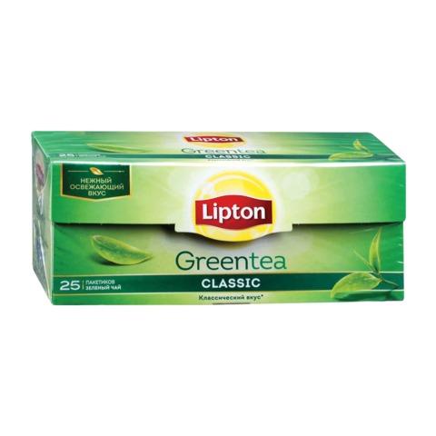 """Чай LIPTON (Липтон) """"Green Tea Classic"""", зеленый, 25 пакетиков по 1,7 г"""