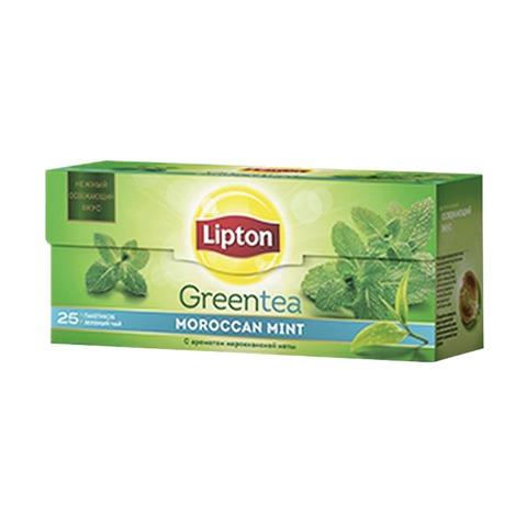 Чай LIPTON (Липтон) «Moroccan Mint», зеленый ароматизированный, 25 пакетиков по 1,4 г