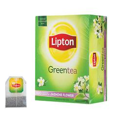 Чай LIPTON (Липтон) «Jasmine Flowers», зеленый с цветами жасмина, 100 пакетиков по 1,4 г