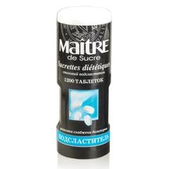 Заменитель сахара (подсластитель) MAITRE de Sucre (МЭТР), 1200 штук, пластиковая баночка с дозатором