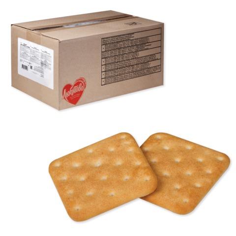 Печенье-крекер ЛЮБЯТОВО «Янтарный с солью», весовое, 5,5 кг, гофрокороб