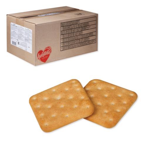Печенье-крекер ЛЮБЯТОВО «Янтарный с сыром», весовое, 5,6 кг, гофрокороб