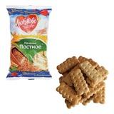 Печенье ЛЮБЯТОВО «Постное», затяжное, 300 г, пакет