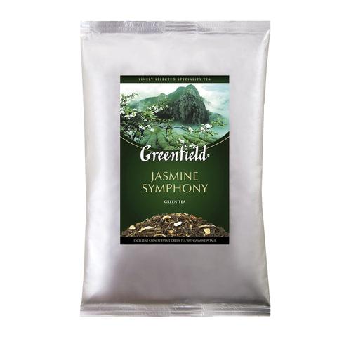 """Чай GREENFIELD (Гринфилд) """"Jasmine Symphony"""", зеленый с жасмином, листовой, 250 г, пакет"""
