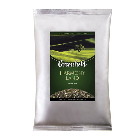 """Чай GREENFIELD (Гринфилд) """"Harmony Land"""", зеленый, листовой, 250 г, пакет"""