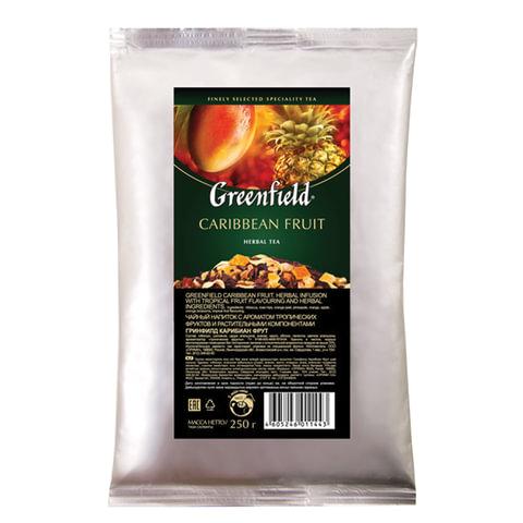 """Чай GREENFIELD (Гринфилд) """"Caribbean Fruit"""", фруктовый, манго/ананас, листовой, 250 г, пакет"""