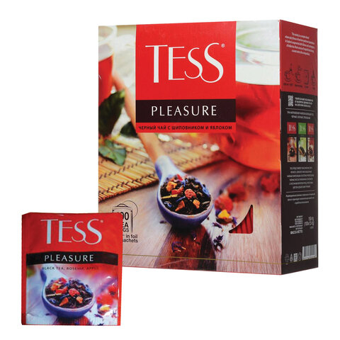 чай Tess Pleasure 100 пакетиков состав