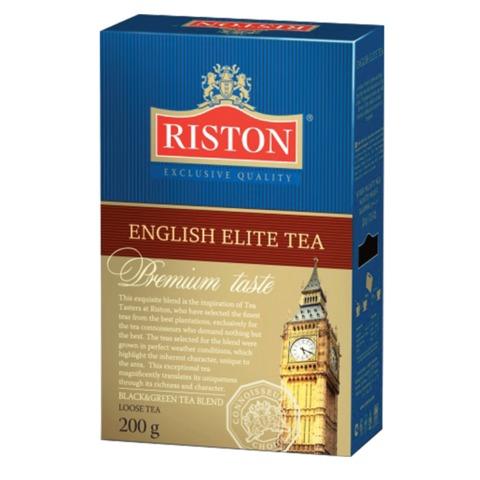 """Чай RISTON (Ристон) """"English Elite Tea"""", черный и зеленый листовой с бергамотом, купаж, 200 г"""