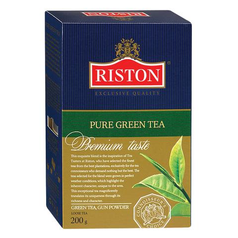 Чай RISTON (Ристон) «Pure Green Tea», зеленый листовой, картонная коробка, 200 г