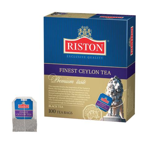 """Чай RISTON (Ристон) """"Finest Ceylon Tea"""", черный, 100 пакетиков по 1,5 г"""