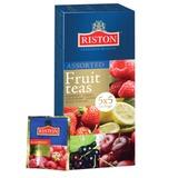 Чай RISTON (Ристон) «Assorted fruit teas», черный, фруктовое ассорти 5 вкусов, 25 пакетиков по 1,5 г