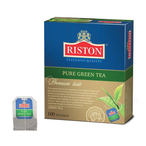 Чай RISTON (Ристон) «Pure Green Tea», зеленый, 100 пакетиков по 2 г