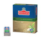 Чай RISTON (Ристон) «Green Tea With Jasmine», зеленый с жасмином, 100 пакетиков по 2 г