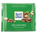 Шоколад RITTER SPORT, молочный, с дробленым лесным орехом, 250 г, Германия