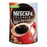 Кофе растворимый NESCAFE (Нескафе) «Classic», гранулированный, 150 г, мягкая упаковка