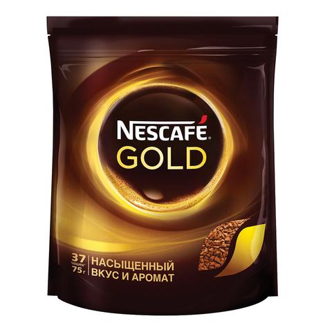 Кофе растворимый NESCAFE (Нескафе) «Gold», сублимированный, 75 г, мягкая упаковка