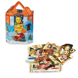 Подарок новогодний АЛЕНКА «Фонарик», 350 г, набор из конфет, шоколада, печенья и пр. ассорти