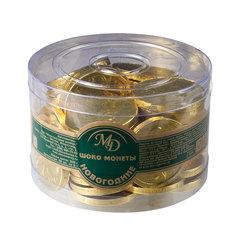 Шоколадные монеты МОНЕТНЫЙ ДВОР, 300 г (50 шт. по 6 г), пластиковая банка