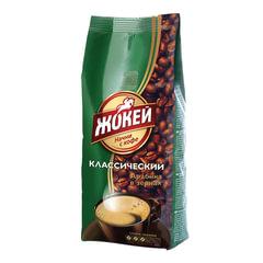 Кофе в зернах ЖОКЕЙ «Классический», натуральный, 250 г, вакуумная упаковка