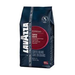Кофе в зернах LAVAZZA (Лавацца) «Super Gusto UTZ», натуральный, 1000 г, вакуумная упаковка