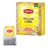 Чай LIPTON (Липтон) «Yellow Label», черный, 100 пакетиков с ярлычками по 1,6 г