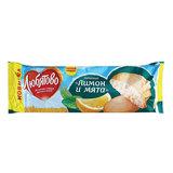 Печенье ЛЮБЯТОВО «Лимон-мята», постное, 250 г, сдобное, в спайке